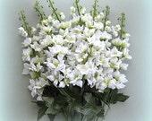 Wedding Flowers White Flower Decor Wedding Floral Supplies Artificial Silk Flower Artificial Flower Stem Flower Faux Flowers Fake Delphinium