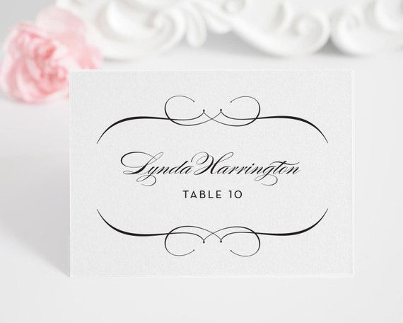 Place Cards or Escort Cards for Your Wedding, French Romance Design Deposit