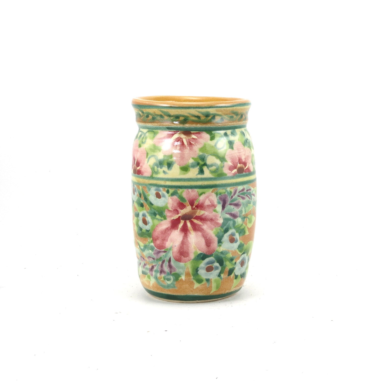 Yellow flower vase small decorative ceramic bud vase pink - Decorative flower vase ...
