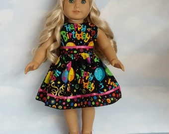 18 Inch doll clothes - #320  Birthday Dress and Hat made to fit the American Girl Doll - FREE SHIPPING