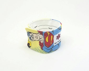 ID Bracelet for Kids Medical Alert Allergy Alert Child Emergency Band Fabric Medical Alert Bracelet Custom Superman Wristband