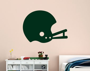 Football Helmet Wall Decal, Helmet Vinyl Wall Decal, Football Helmet, Retro Football Helmet Decal