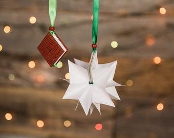 Christmas tree star ornament book