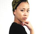 Mustard and Black Deco Print Headband