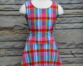 Ready to Ship. Modest Swimsuit in girl's size 12. Plaid Swimsuit. Modest Swimwear. Swim Dress. Skirt. Leggings. Summer. Pool. Lake. Beach.