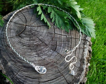 Celtic braided torc necklace