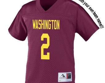 Customized MAROON Football Jersey in 2t/3t or 4t TODDLER Sizes Personalized with Your Choice of Name and Number!