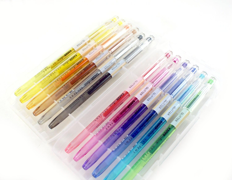 starter set of glitter gel pens 12 glitter gel pens fine. Black Bedroom Furniture Sets. Home Design Ideas