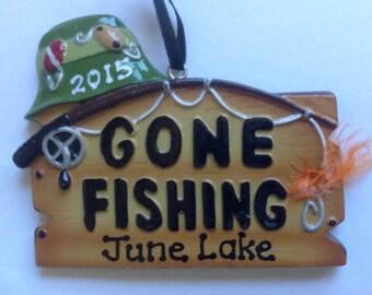 Personalized Christmas Ornament Fishing,Fishing Rod ,Bait theme- Free Personalization