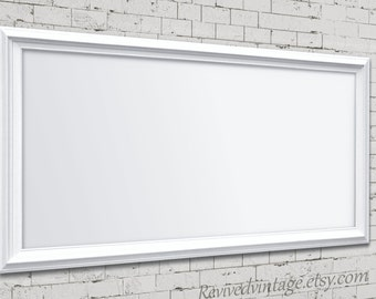 "Large MODERN MAGNETIC BOARDS For Sale 53""x29"" White Dry Erase Board Office Organizer White Framed Kitchen Magnet Board Wedding Ideas"