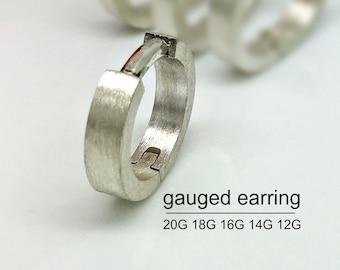Gauge earring, galactic light gauge earring, conch earring, conch hoop, 12 gauge hoop earring, cartilage earring, 12g 14g 16g , E190MNGauge