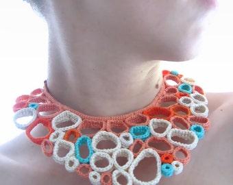 Voronoy Crochet Collar