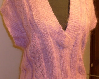 pink%100 mohair sweater