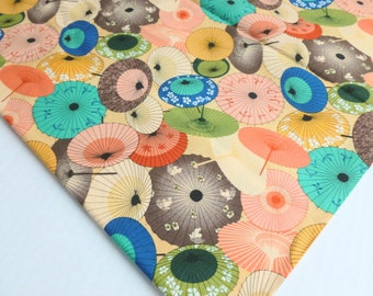 Umbrellas Fabric by Springs Creative Products Two Yards Yardage Destash