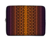 Tribal netbook case, laptop sleeve, laptop cover, computer sleeve, laptop case, to fit 15.6, 10, 13, 15, 17 inch, purple orange ombre