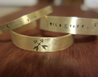 Brass Stamped Bracelet, Designs, Names, Dates, Roman Numerals, Coordinates, Messages, #Instagram, cuffs, custom, personalized, hand stamped