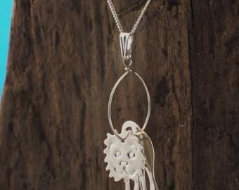 Lion Necklace, Silver Lion pendant,  Lion Jewellery, Animal Jewellery, Handmade, Wildlife Gifts, Wildlife Jewellery, Lion Gifts, Leo.