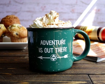 adventure is out there, adventure is out there mug, wilderness explorer mug, adventure, disney mug, carl and ellie, coffee mug