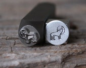 Wolf with Moon Metal Stamp-8mm Size-Steel Stamp-New Metal Design Stamps-by Metal Supply Chick-DCH61