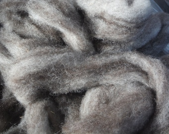 100% Jacob Wool Roving from New England 4 oz-Heritage Breed