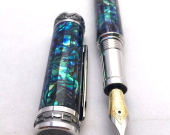 Fountain Pen - Abalone Pen ** Pen **  Anniversary Gift ** Gifts for Husband ** Gifts for Mom ** Gifts for Wife * Birthday Present