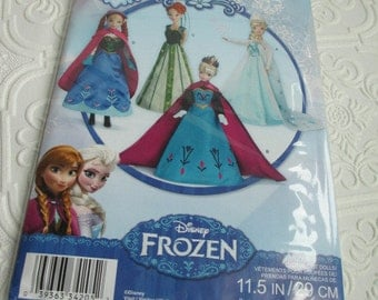 DOLL CLOTHING DRESS Sewing Pattern Frozen Elsa Simplicity M0734 Barbie Doll Disney Anna Costume 11.5 inches
