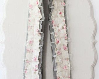 Ready to Ship - Floral ruffle DSLR camera strap cover gift