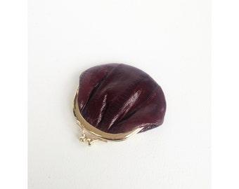 Vintage Eel Skin Coin Purse