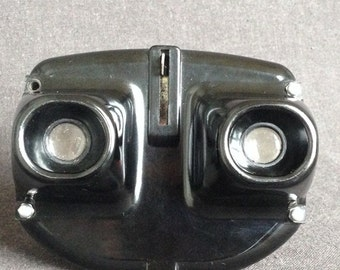Vintage black ColoRelief French stereoscope viewer. Another retro viewmaster. Made in France.