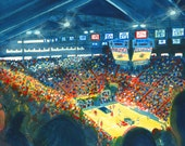 Afternoon Game at Allen Fieldhouse, University of Kansas Basketball. Fine art print of original painting.