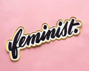 Big F, Little F feminist embroidered patch — HUGE!