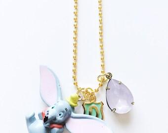 Disney Jewelry Dumbo Inspired Charm Necklace , giddyupandgrow