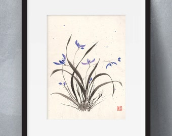 Orchid Splatter - Flowers 12x16 Limited Edition (Print)