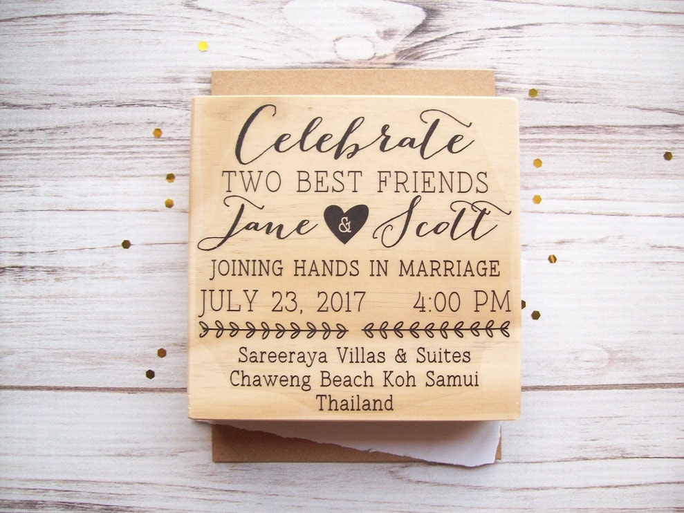 Personalized Stamps For Wedding Invitations: Wedding Invitation Stamp Custom Invite Rubber Stamp