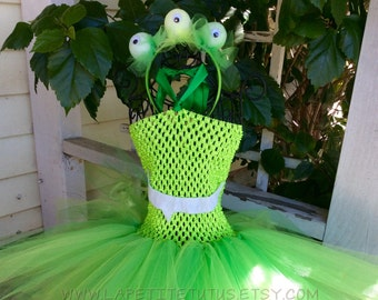 Monster tutu dress, alian tutu dress, halloween costume, tutu dress, alien dress, alien tutu, monster dress, monster tutu, girls tutu dress