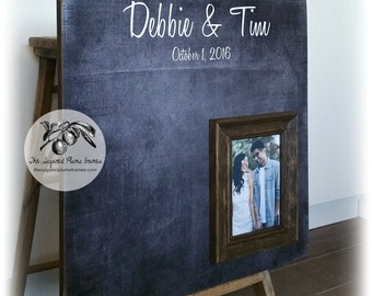 Wedding Guest Book Alternative, Picture Frame Guest Book, Unique Wedding Guest Book, Guest Book Sign In, 20x20 The Sugared Plums Frames