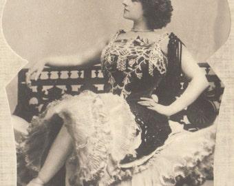 La Belle Waléry, Belle Epoque Dancer, circa 1900, A. Noyer Pub.