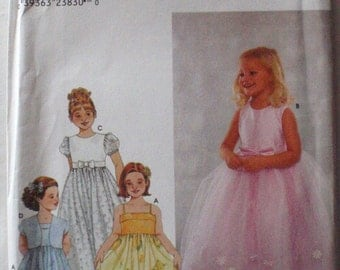 Little Girl's Ankle Length Dressy Dress and Bolero Jacket Sewing Pattern - Simplicity 9147 - Sizes 3-4-5, Breast 22 - 24,  Uncut
