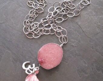 Rose OM Yoga Necklace