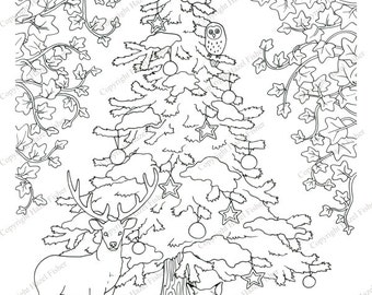 Winter Forest Coloring Pages