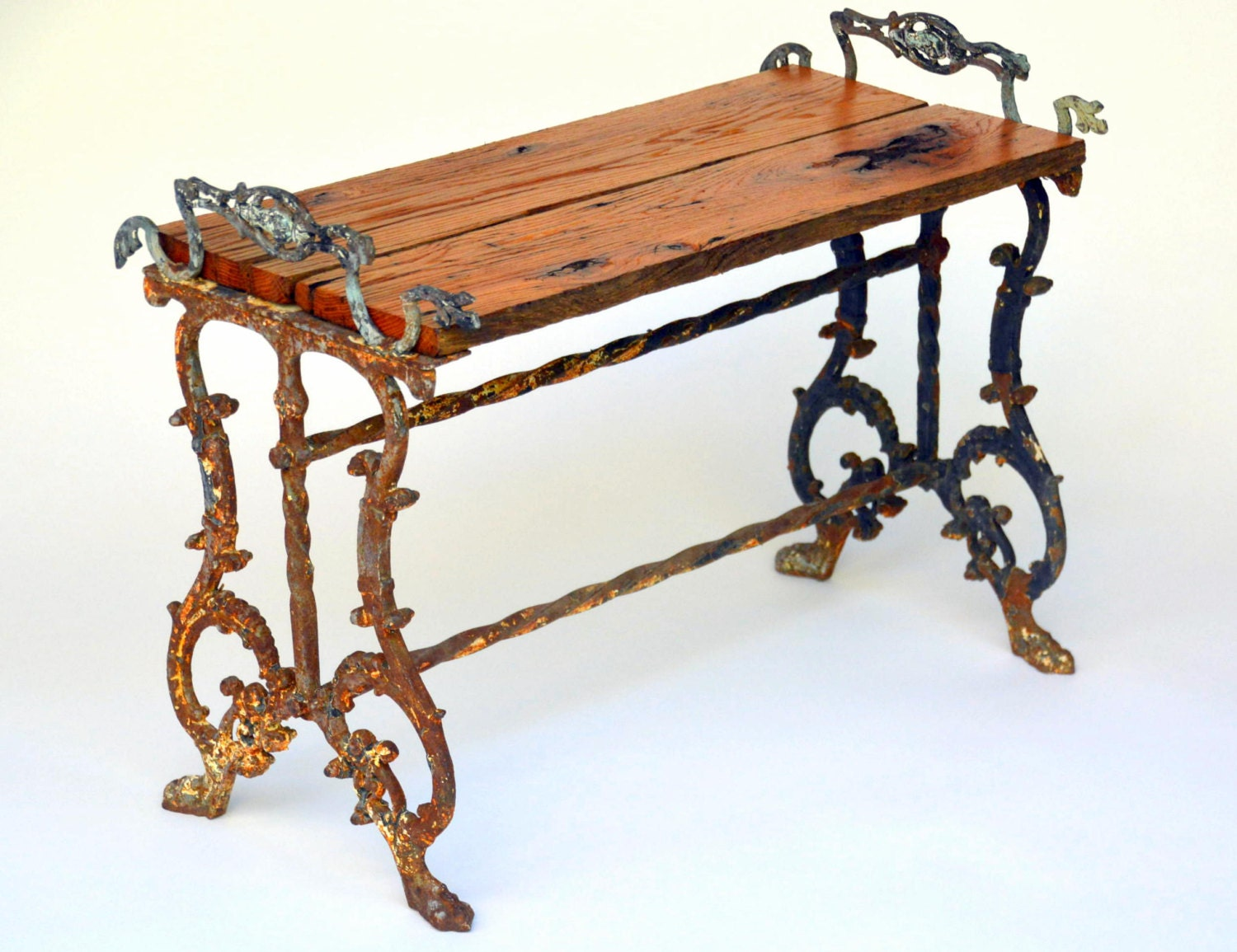 antique wrought iron stand