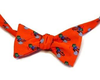 Doctor Bow Tie, Men's Bow Tie, Pediatrician Bow Tie, Orange Bow Tie, Stethoscope, Graduation Gift, Medical School Gift, Doctor Gift