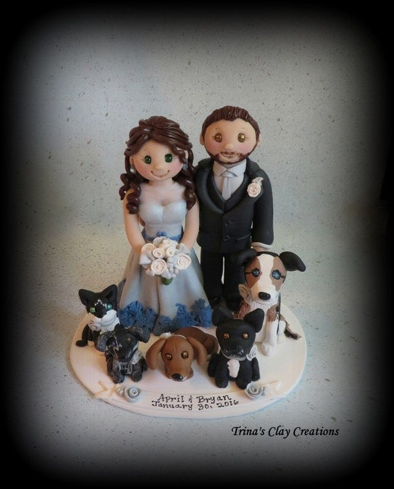 etsy wedding cake topper dog wedding cake topper custom cake topper grooms cake 14051
