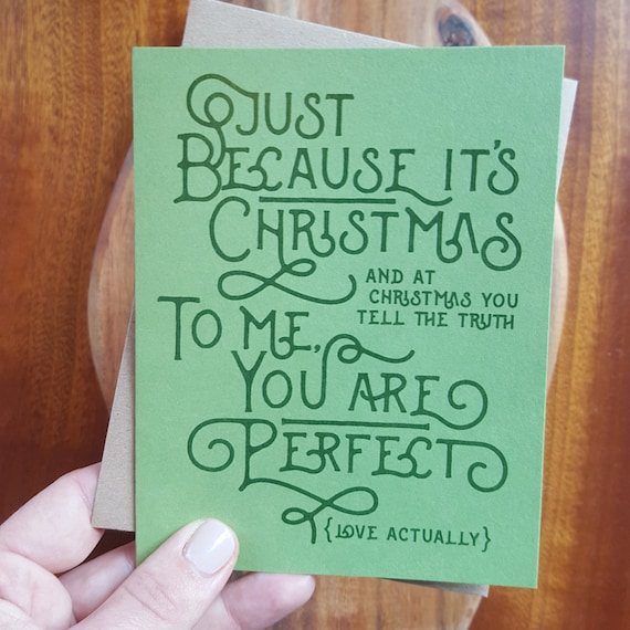 Christmas Quote Card Love Actually Quote Christmas Love