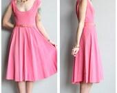 1950s Dress // Carnation Corduroy Dress // vintage 50s dress