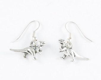 Silver Dinosaur Earrings // T Rex Silver Earrings // T-Rex Jewelry // Dinosaur Jewelry