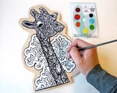 DIY Paint your own Art Giraffe Kit- Watercolor Painting Kit