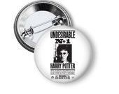 """Undesirable No. 1 Newspaper Harry Potter Inspired 1"""" Pinback Button"""
