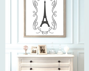Wall Decals - Stickers - Wall Art - Paris Decor - Eiffel Tower Decor - Decals - Wall Decor - Wall Decal - Vinyl Stickers