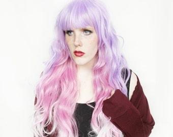 SALE Pastel Purple wig | Long Pink wig | Gradient Purple Scene wig, Lolita wig for cosplay, cosplay wig | Rose + Lilac